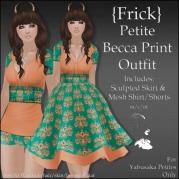 {Frick} Petite Becca Print Outfit