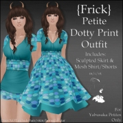 {Frick} Petite Dotty Print Outfit