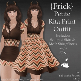 {Frick} Petite Rita Print Outfit